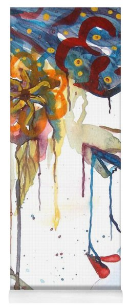 Geisha Soul Watercolor Painting Yoga Mat
