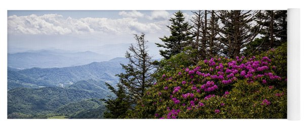 Rhododendrons - Roan Mountain Yoga Mat