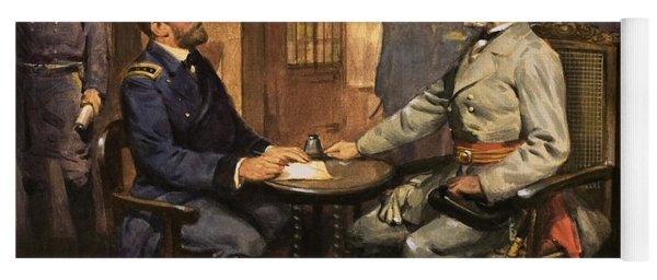 General Grant Meets Robert E Lee  Yoga Mat