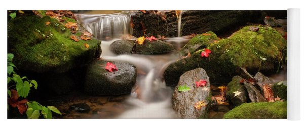 Gentle Cascades Of Autumn  Yoga Mat