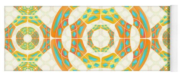 Geometric Composition Yoga Mat