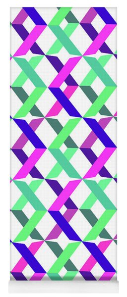 Geometric Crosses Yoga Mat
