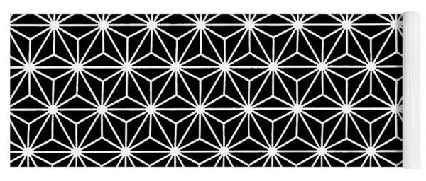 Geometric Flowers Isosceles Triangle White Line Yoga Mat