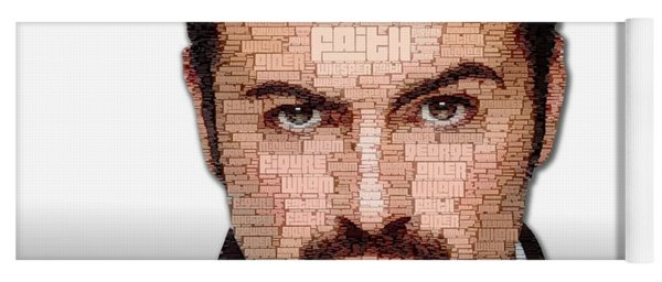 Yoga Mat featuring the digital art George Michael Tribute by ISAW Company