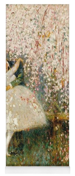 Georges Picard French 1857 1946 Romance Under The Blossom Tree Yoga Mat