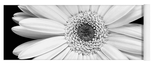 Single Gerbera Daisy Yoga Mat