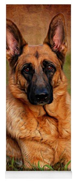 German Shepherd Dog Portrait  Yoga Mat