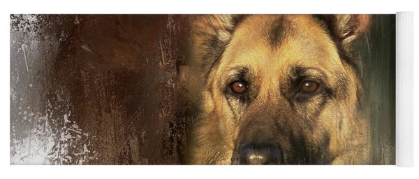 German Shepherd Portrait Color Yoga Mat