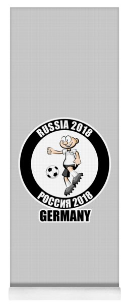 Germany In The Soccer World Cup Russia 2018 Yoga Mat