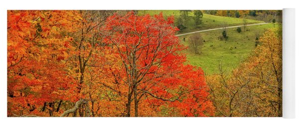 Germany Valley Dressed In Autumn Yoga Mat