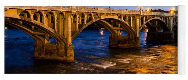 Gervais Street Bridge At Twilight Yoga Mat