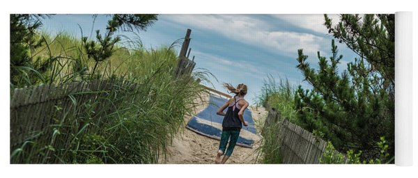 Yoga Mat featuring the photograph Get To The Beach by T Brian Jones
