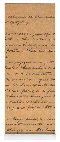 Gettysburg Address Yoga Mat