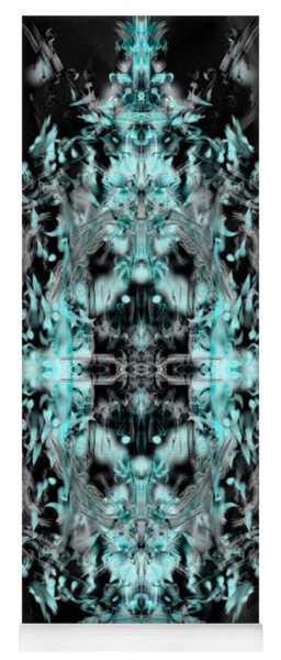 Yoga Mat featuring the digital art Ghost Flake Inverted by Reed Novotny