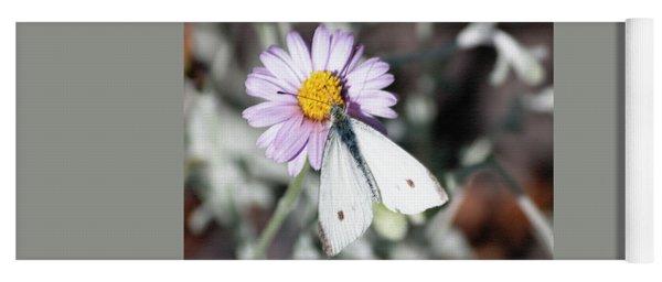 Ghost Moth In Pastel Yoga Mat