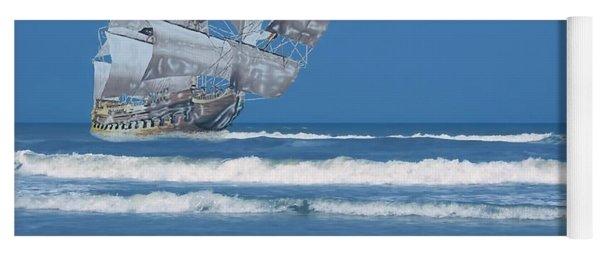 Ghost Ship On The Treasure Coast Yoga Mat