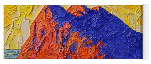 Gibraltar The Rock Contemporary Impressionism Impasto Palette Knife Oil Painting  Ana Maria Edulescu Yoga Mat