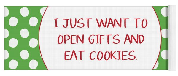 Gifts And Cookies- Art By Linda Woods Yoga Mat