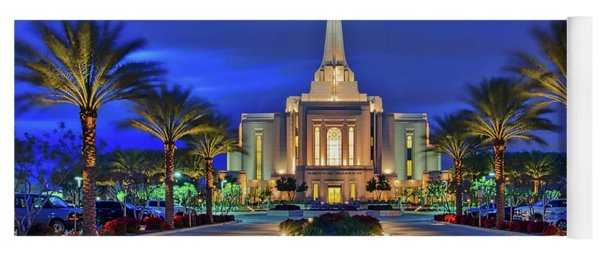 Gilbert Arizona Temple Of The Church Of Jesus Christ Of Latter-day Saints Yoga Mat