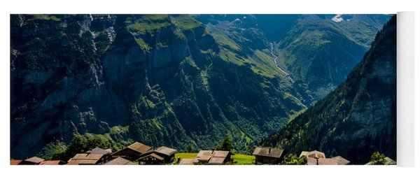Gimmelwald In Swiss Alps - Switzerland Yoga Mat