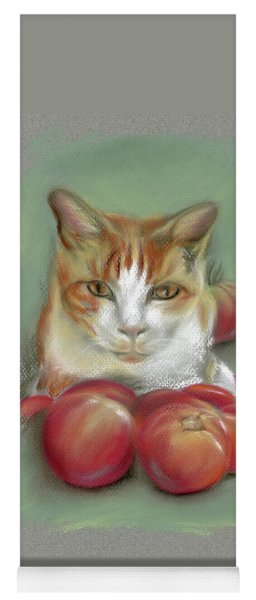 Ginger And White Cat Among The Tomatoes Yoga Mat