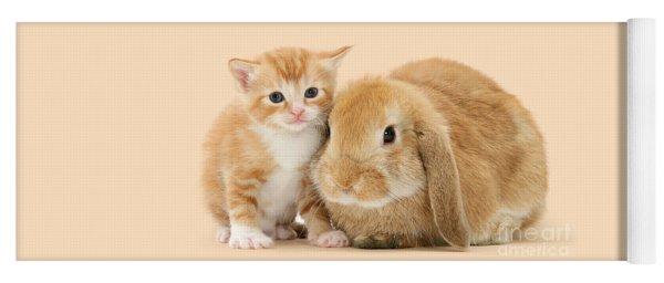 Ginger Kitten And Sandy Bunny Yoga Mat