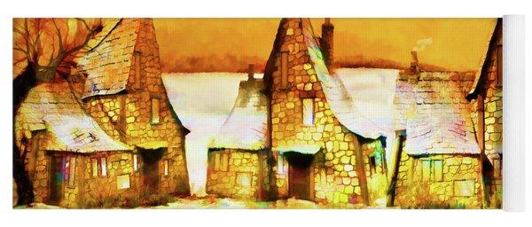Gingerbread Cottages Yoga Mat