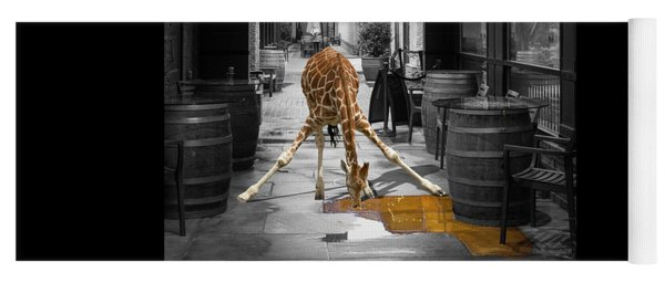 Giraffe Drinking Whiskey Series 4987y Yoga Mat