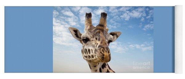 Giraffe In The Masai Mara Yoga Mat