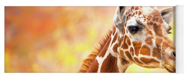 Giraffe, Animal Decor, Nursery Decor,  Yoga Mat
