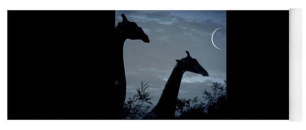 Giraffe Moon  Yoga Mat