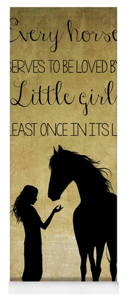 Girl And Horse Silhouette Yoga Mat