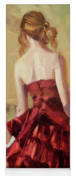 Girl In A Copper Dress II Yoga Mat