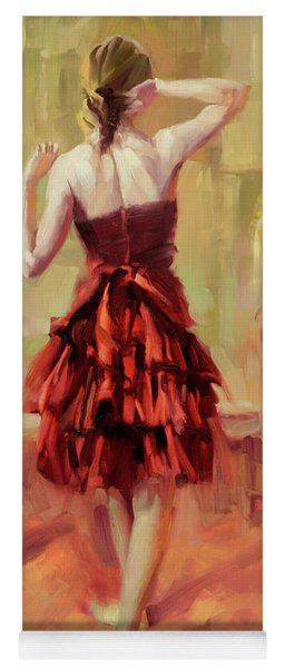 Girl In A Copper Dress IIi Yoga Mat