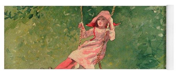 Girl On A Swing Yoga Mat