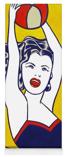 Girl With Ball - Pop Art - Roy Lichtenstein Yoga Mat