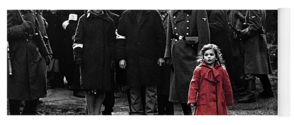 Girl With Red Coat Publicity Photo Schindlers List 1993 Yoga Mat