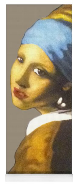Yoga Mat featuring the painting Girl With The Pearl Earring No Background by Jayvon Thomas