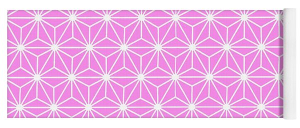 Girly Pink Geometric Flowers And Florals Isosceles Triangle Yoga Mat