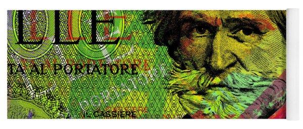Giuseppe Verdi Portrait Banknote Yoga Mat