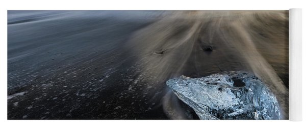 Yoga Mat featuring the photograph Glacial Shard by Rikk Flohr