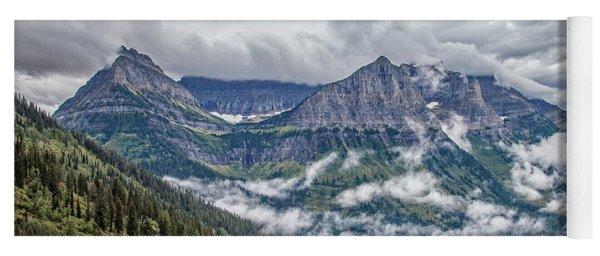 Glacier-carved Peaks Yoga Mat