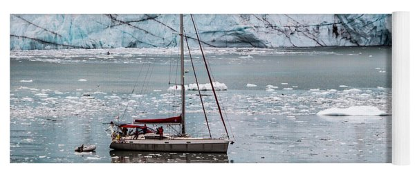 Yoga Mat featuring the photograph Glacier Sailing by Ed Clark