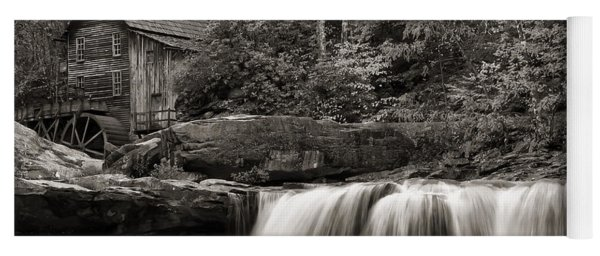 Glade Creek Grist Mill Monochrome Yoga Mat