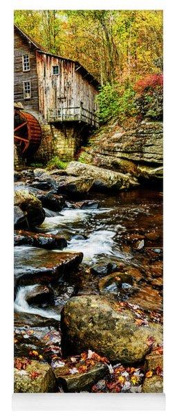 Glade Creek Grist Mill Fall  Yoga Mat