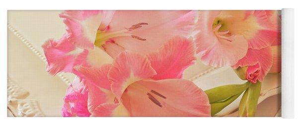 Gladiolas In Pink Yoga Mat