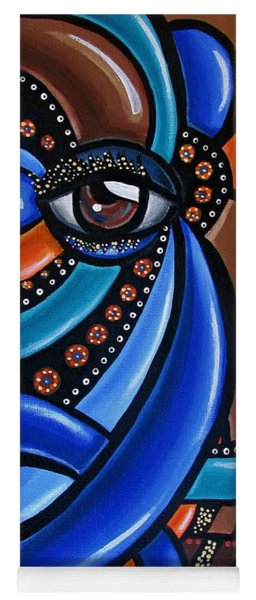 Abstract Eye Art Acrylic Eye Painting Surreal Colorful Chromatic Artwork Yoga Mat
