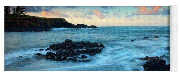 Glass Beach Dawn Yoga Mat