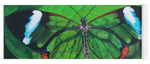 Glass Wing Butterfly Yoga Mat
