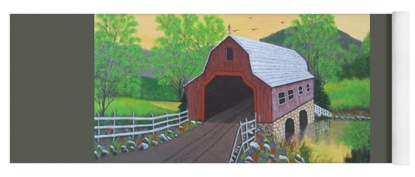 Glenda's Covered Bridge Yoga Mat